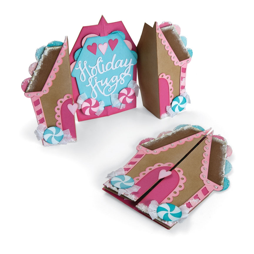 Sizzix GINGERBREAD FOLD A LONG Thinlits Die Set 662449 zoom image