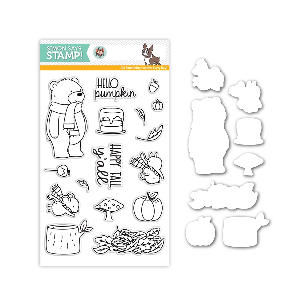 Neat and Tangled HELLO PUMPKIN Stamps and Dies Set SR17NTSet Stamptember Exclusive zoom image