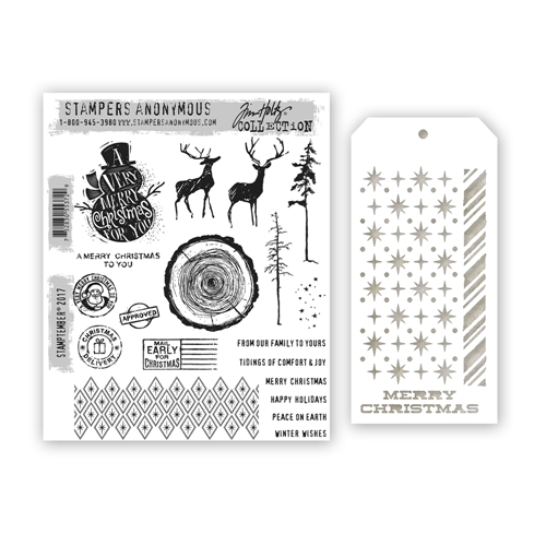 Tim Holtz StampTember Stamp and Stencil Set