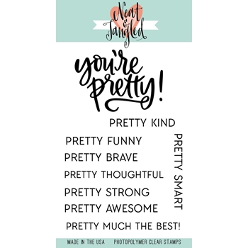 Neat and Tangled YOU'RE PRETTY Clear Stamp Set
