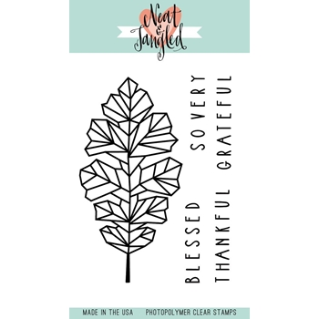Neat and Tangled OAK LEAF Clear Stamp Set
