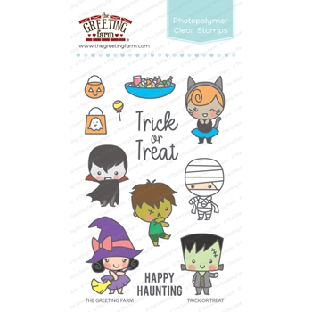 The Greeting Farm TRICK OR TREAT Clear Stamps TGF344