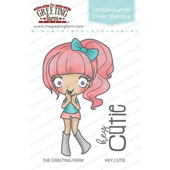 The Greeting Farm HEY CUTIE Clear Stamps TGF342