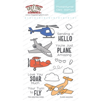 The Greeting Farm PLANE AMAZING Clear Stamps TGF338