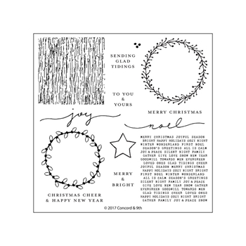 Concord & 9th JOYFUL NOEL Clear Stamp Set 10257