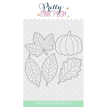 Pretty Pink Posh STITCHED FOLIAGE Die Set