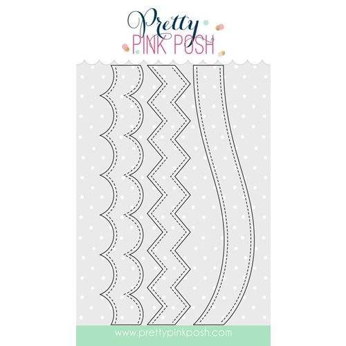 Pretty Pink Posh STACKED EDGES 1 Die Set Preview Image