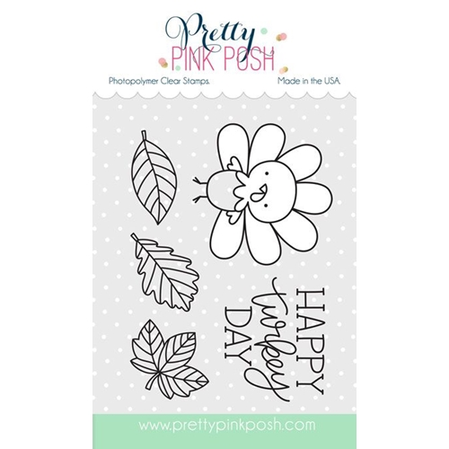 Pretty Pink Posh HAPPY TURKEY Clear Stamp Set Preview Image