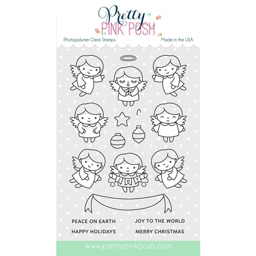 Pretty Pink Posh ANGEL FRIENDS Clear Stamp Set Preview Image