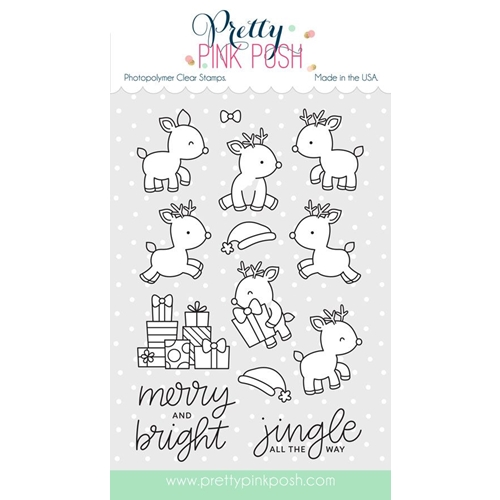 Pretty Pink Posh REINDEER FRIENDS Clear Stamp Set Preview Image