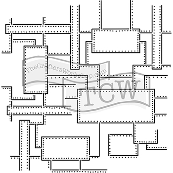 The Crafter's Workshop MINI RIVETED 6x6 Template TCW745s