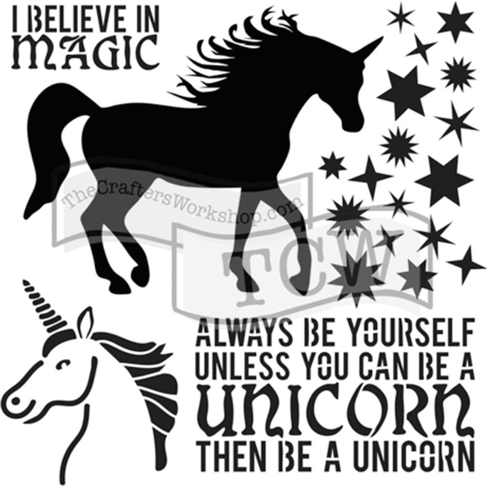 The Crafter's Workshop SMALL UNICORN 6x6 Template TCW738s zoom image