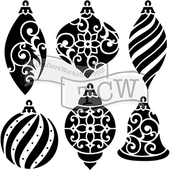 The Crafter's Workshop MINI ORNAMENTS 6x6 Template TCW717s