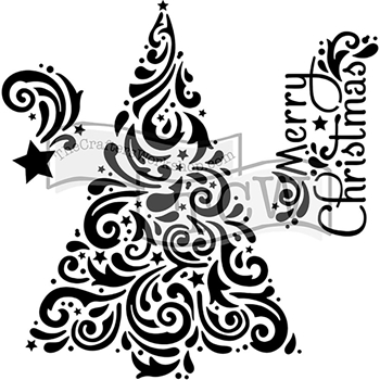 The Crafter's Workshop MINI CHRISTMAS TREE 6x6 Template TCW719s
