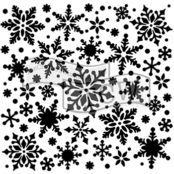 The Crafter's Workshop MINI SNOWFLAKES 6x6 Template TCW720s