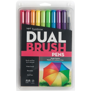 Tombow BRIGHT Dual Brush Pens 10 Pack 56185
