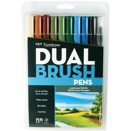Tombow LANDSCAPE Dual Brush Pens 10 Pack 56169 Preview Image