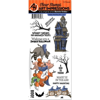 Art Impressions HAPPY HAUNTING Set Clear Stamps 4940