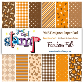 Your Next Stamp FABULOUS FALL 6X6 Paper Pack YNSPP017