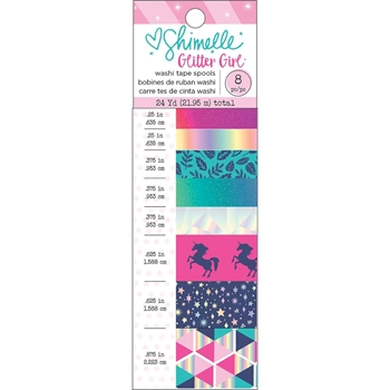 American Crafts Shimelle WASHI TAPE Glitter Girl 343663