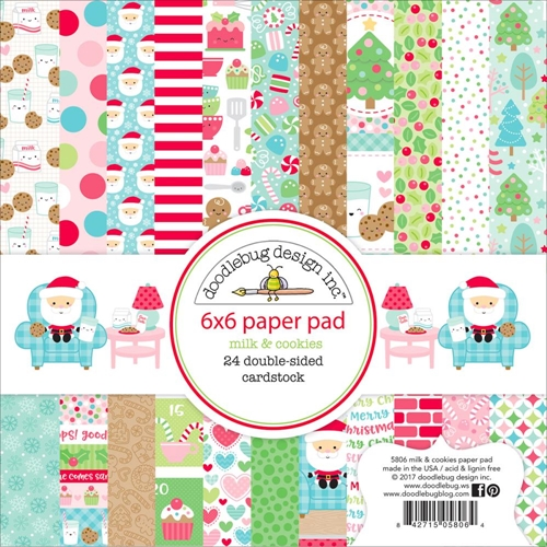 Doodlebug Milk and Cookies 6x6 Paper Pack
