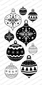 Impression Obsession Clear Stamp FESTIVE ORNAMENTS WP787