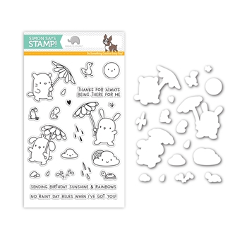 Mama Elephant RAIN OR SHINE Stamps and Dies Set SR17MESet Stamptember Exclusive