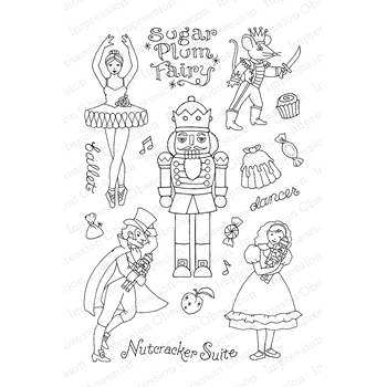 Pink Ink For Impression Obsession Clear Stamp NUTCRACKER SWEETS CL780