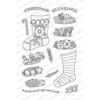Pink Ink For Impression Obsession Clear Stamp STOCKING STUFFERS CL782