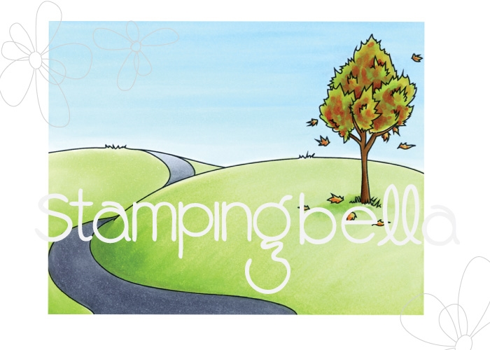 Stamping Bella Cling Stamp FALL BACKDROP Rubber UM EB536 zoom image