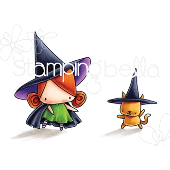 Stamping Bella Cling Stamp LITTLE BITS LITTLE WITCHES Rubber UM EB550