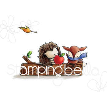 Stamping Bella Cling Stamp THE LITTLES HEDGIE AND FOXY Rubber UM EB540