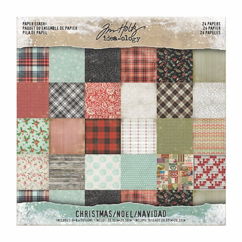 Tim Holtz Idea-ology 8 x 8 Mini Paper Stash CHRISTMAS Paperie TH93625 Preview Image