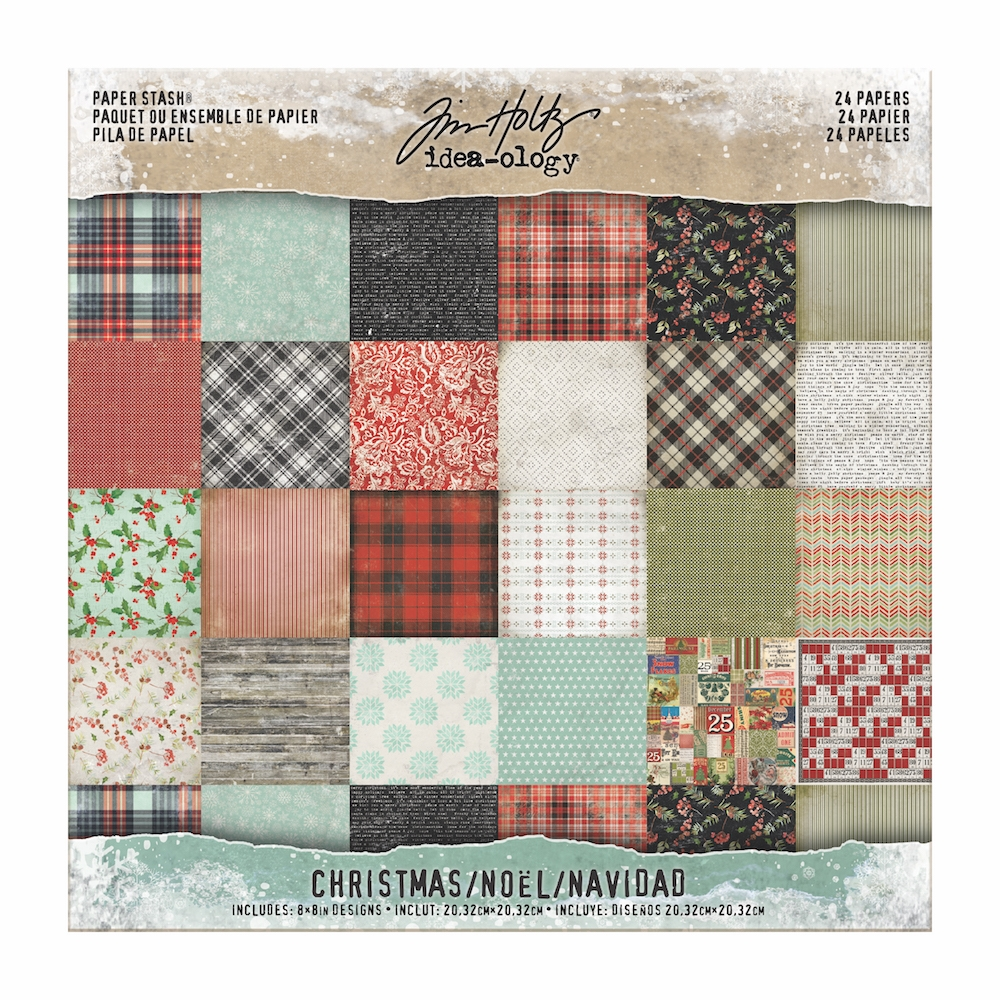 Tim Holtz Christmas 8x8 Paper Pack