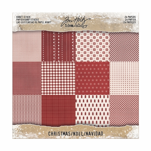 Tim Holtz Idea-ology 8 x 8 Paper Stash KRAFT CHRISTMAS Paperie TH93626 Preview Image