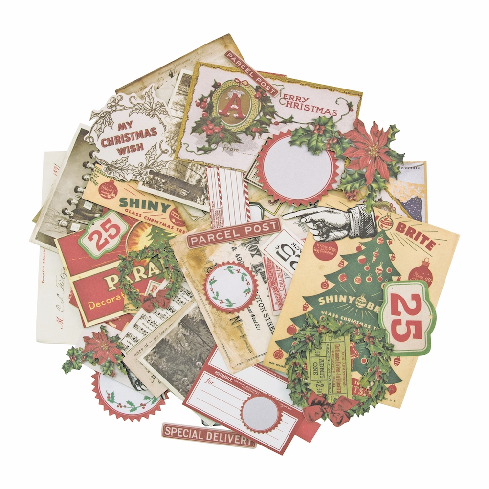 Tim Holtz Idea-ology CHRISTMAS Ephemera Pack TH93627 zoom image