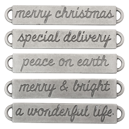 Tim Holtz Christmas Word Bands Idea-ology