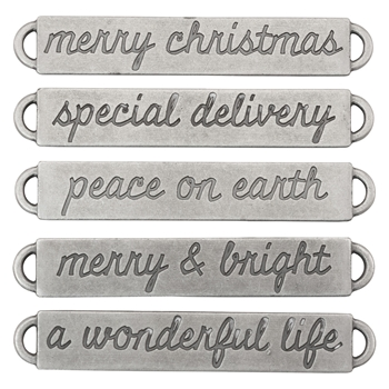 Tim Holtz Idea-ology CHRISTMAS Word Bands Findings TH93630