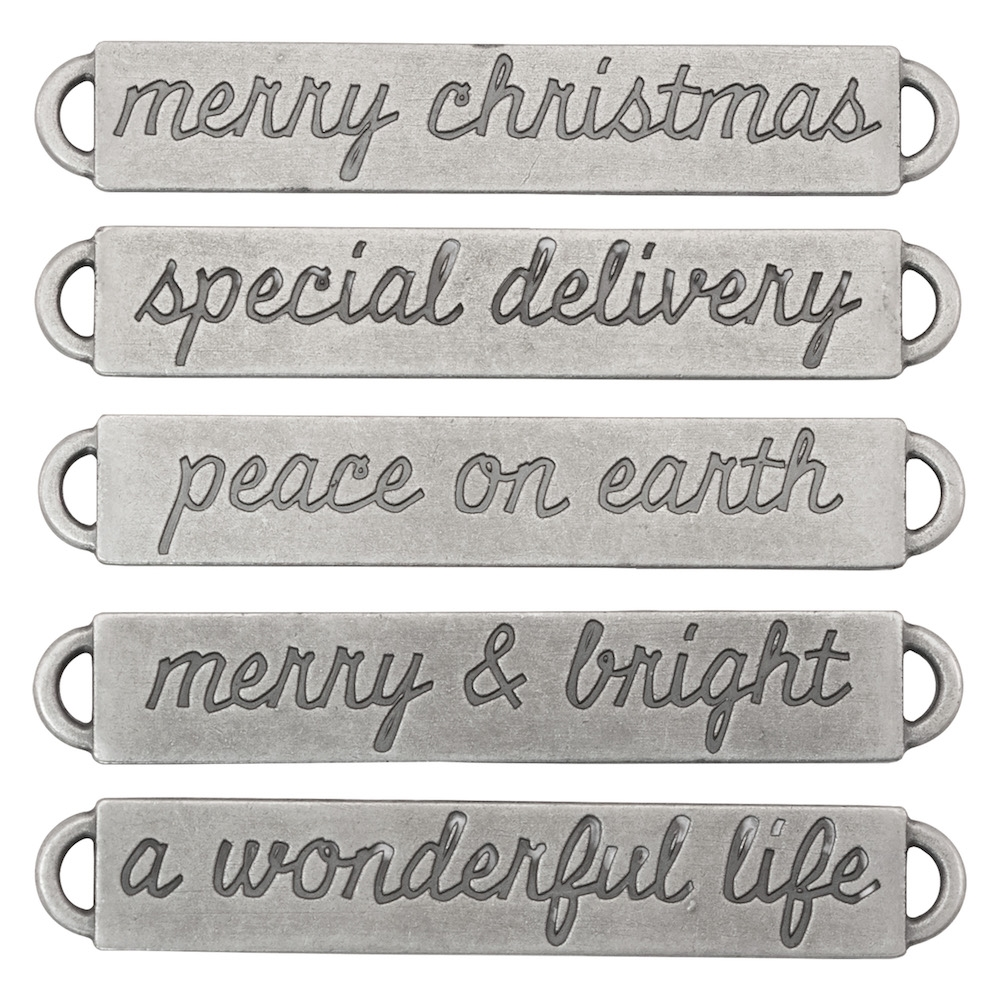 Tim Holtz Idea-ology CHRISTMAS Word Bands Findings th93742 zoom image