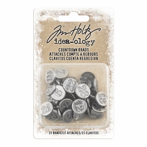Tim Holtz Idea-ology COUNTDOWN BRADS Fasteners th93679 Preview Image