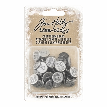 RESERVE Tim Holtz Idea-ology COUNTDOWN BRADS Fasteners TH93631