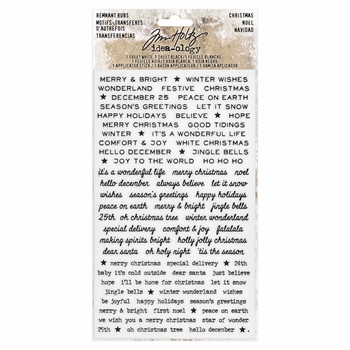RESERVE Tim Holtz Idea-ology CHRISTMAS Remnant Rubs TH93635