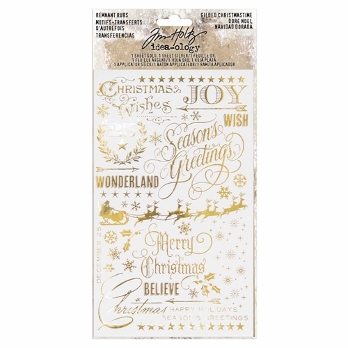 Tim Holtz Idea-ology GILDED CHRISTMAS Remnant Rubs TH93636 Preview Image