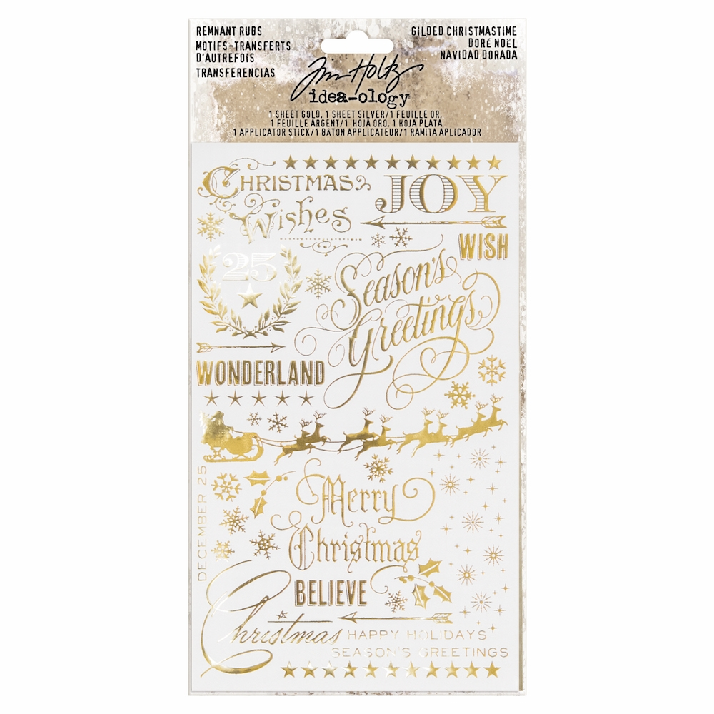 Tim Holtz Idea-ology GILDED CHRISTMAS Remnant Rubs TH93636 zoom image