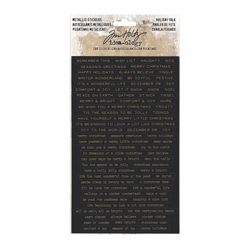 Tim Holtz Idea-ology METALLIC HOLIDAY TALK Stickers TH93642 Preview Image