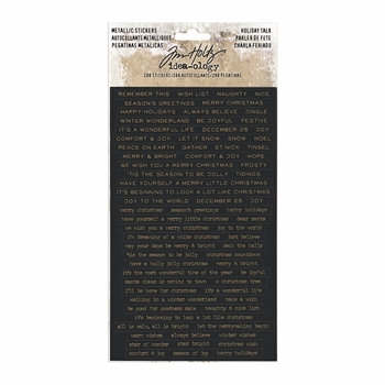 RESERVE Tim Holtz Idea-ology METALLIC HOLIDAY TALK Stickers TH93642