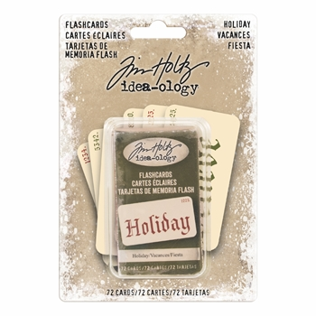 RESERVE Tim Holtz Idea-ology HOLIDAY Flashcards TH93645