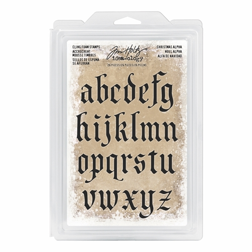 Tim Holtz Idea-ology CHRISTMAS ALPHA Cling Foam Stamps TH93648 Preview Image