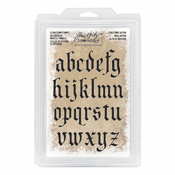 Tim Holtz Idea-ology CHRISTMAS ALPHA Cling Foam Stamps TH93648