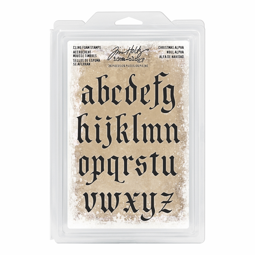 Tim Holtz Idea-ology CHRISTMAS ALPHA Cling Foam Stamps TH93648 zoom image